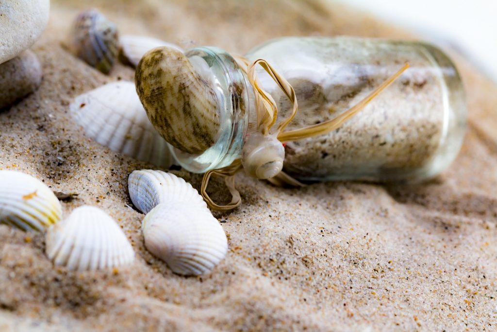 沙子, 贝壳, 瓶, 小船, 海滩, 海贝壳, 1706301122