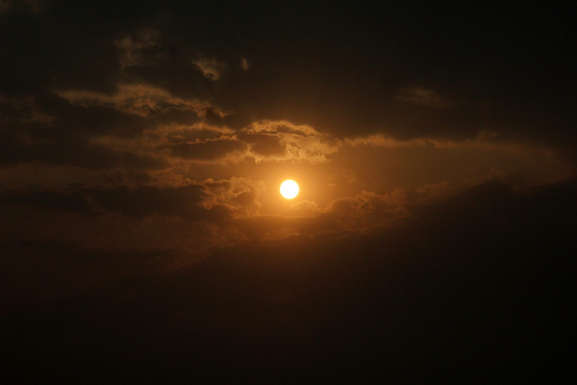 atardecer, Coucher de soleil, nuages, nuageux, Sun, lumière - Fonds d'écran HD - Professor-falken.com