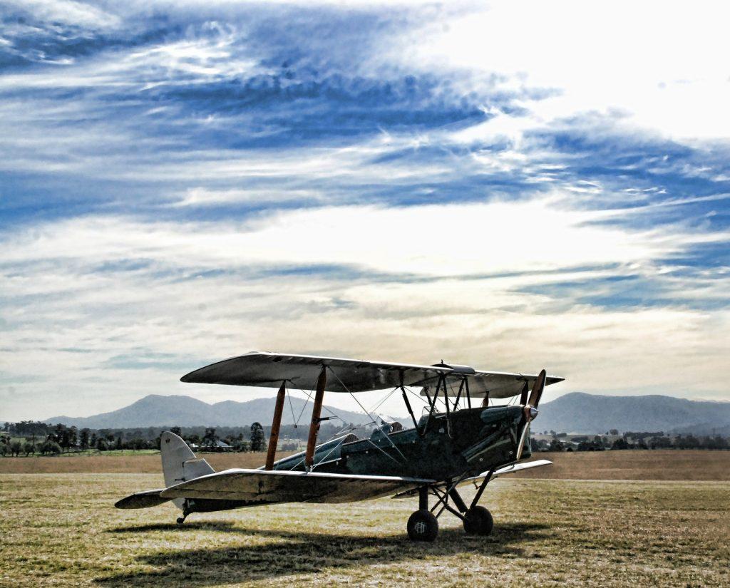 avioneta, aeroplano, hélice, explanada, árboles, volar, 1706261105