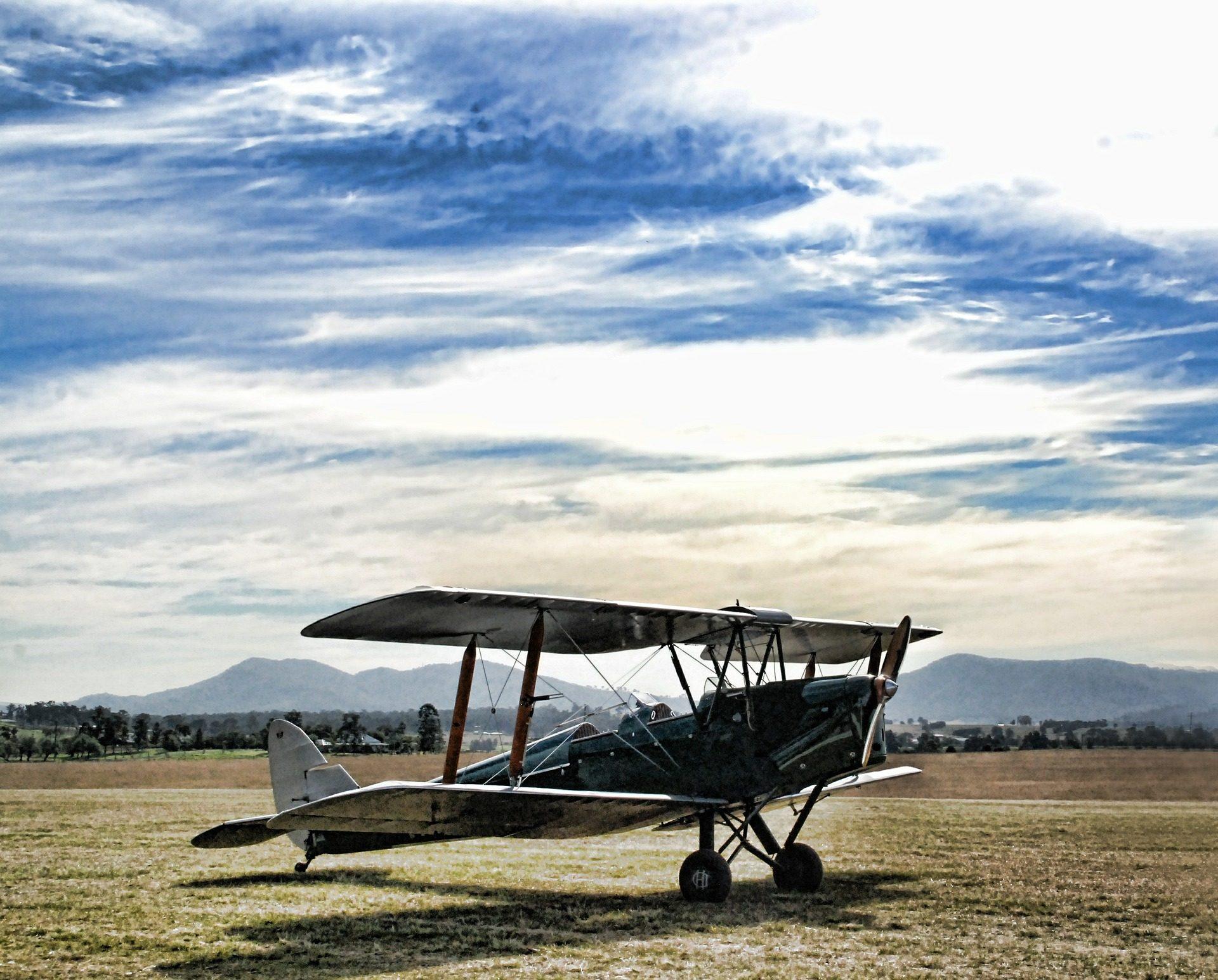 الطائرات الخفيفة, الطائرة, المروحة, المتنزه, الأشجار, يطير - خلفيات عالية الدقة - أستاذ falken.com