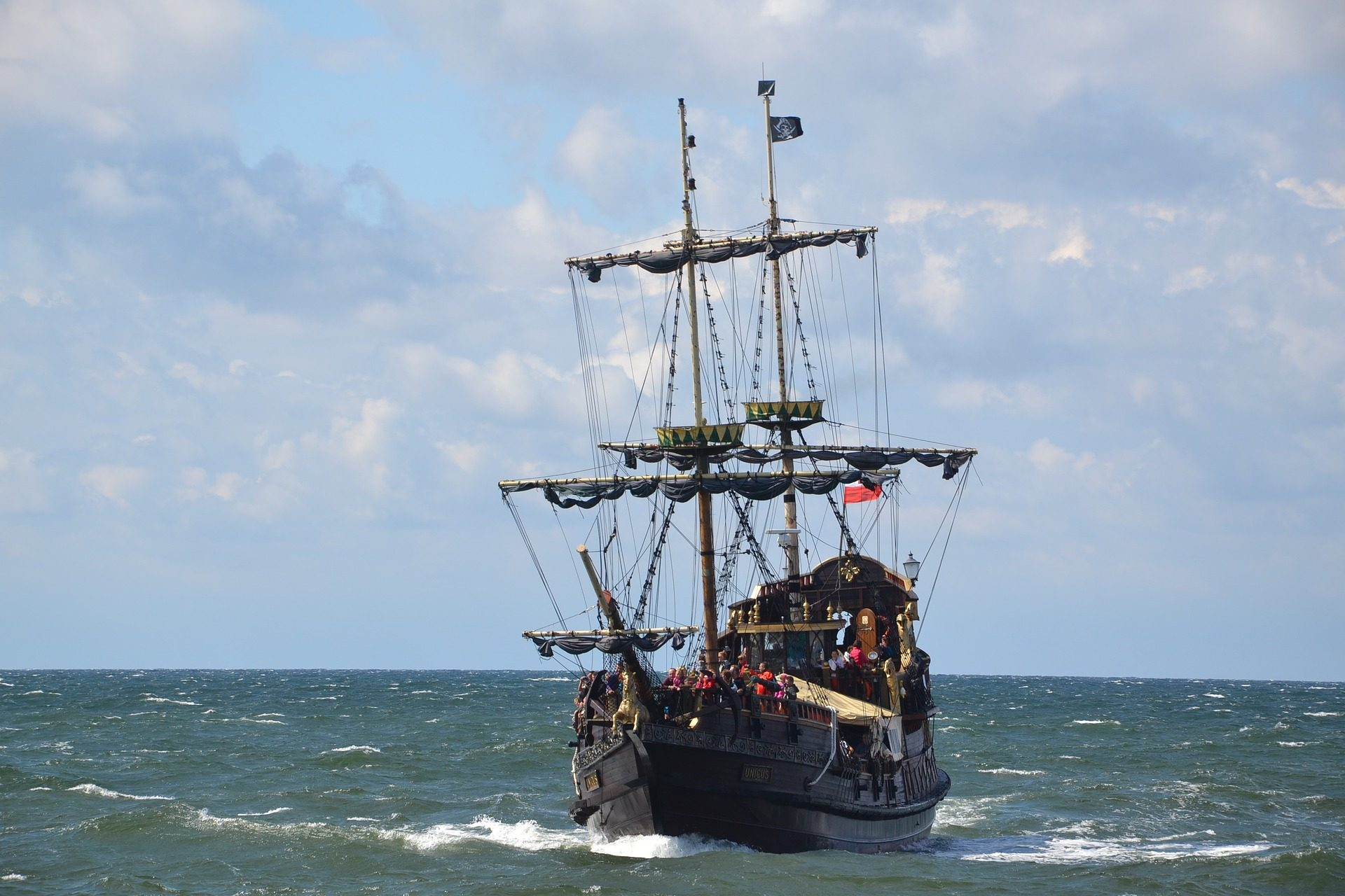 barco, velero, pirata, mástiles, velas, embarcación, mar - Fondos de Pantalla HD - professor-falken.com