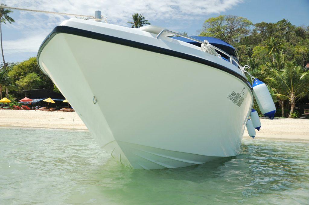 barco, yate, costa, playa, amarre, mar, sombrillas, 1706262043