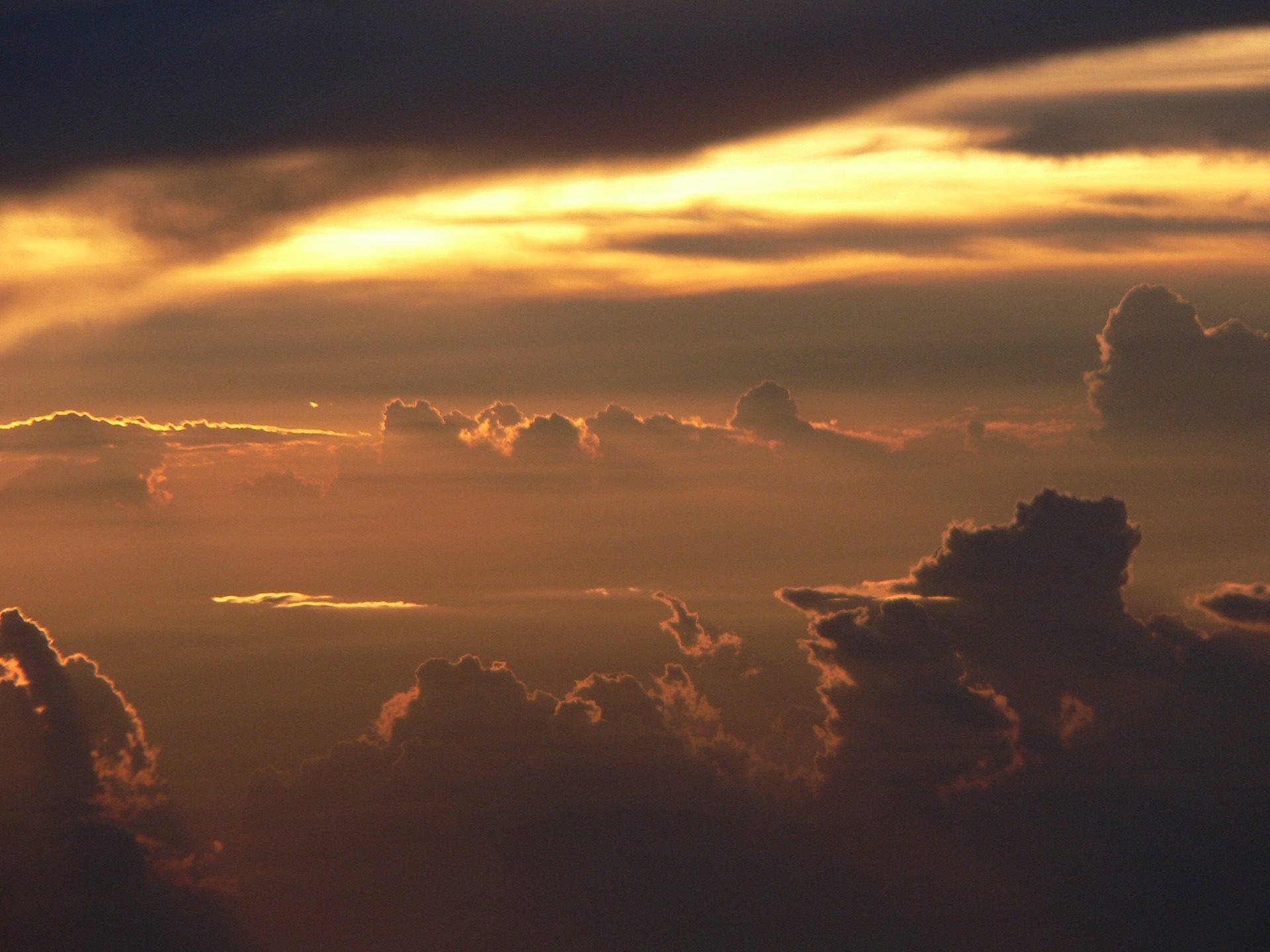 Céu, nublado, nuvens, Raios, luz, Pôr do sol - Papéis de parede HD - Professor-falken.com