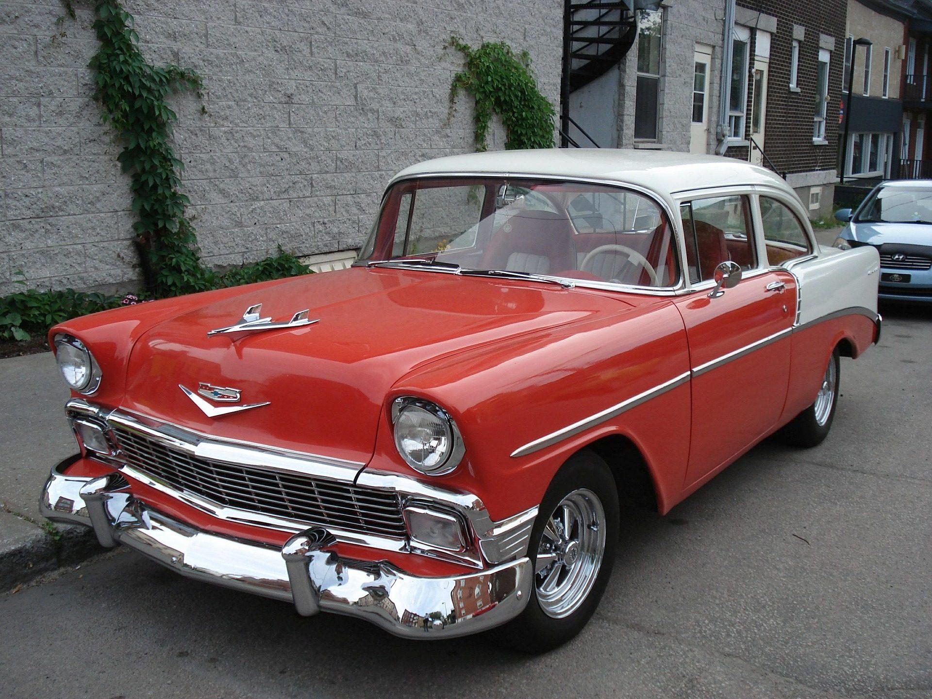 voiture, vieux, Vintage, Chevy, Bel air, luminosité, Rouge - Fonds d'écran HD - Professor-falken.com