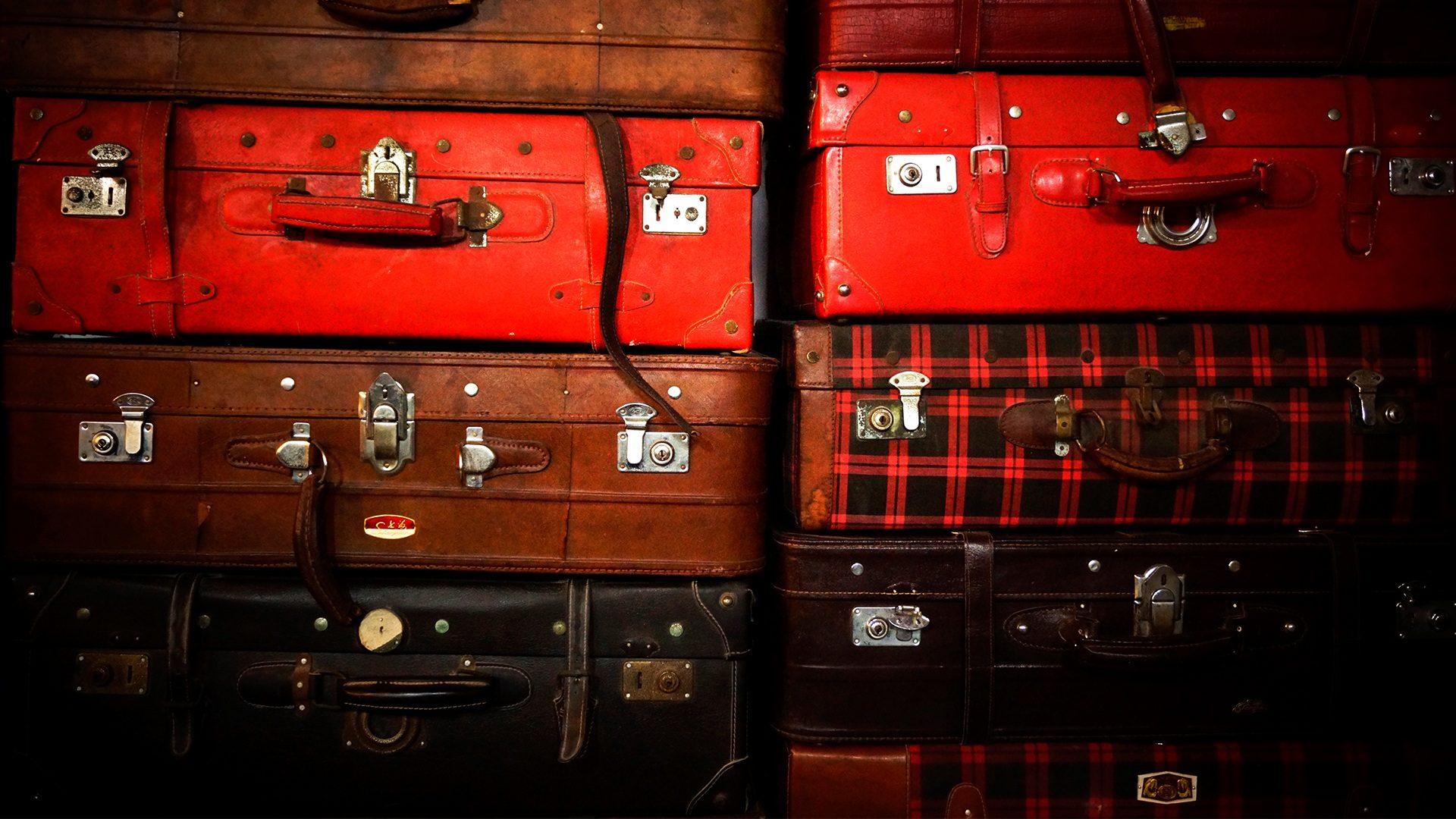 equipaje, Камера, древние, Винтаж, много, стек - Обои HD - Профессор falken.com