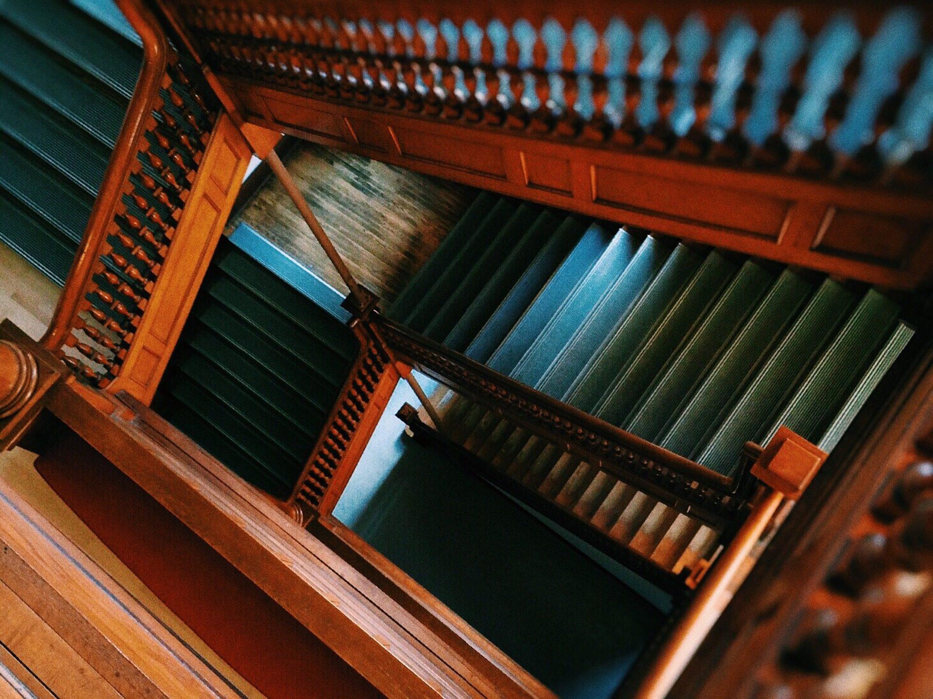лестницы, пустотелые, Лестничные ступени, Железнодорожные, Вуд, Высота - Обои HD - Профессор falken.com
