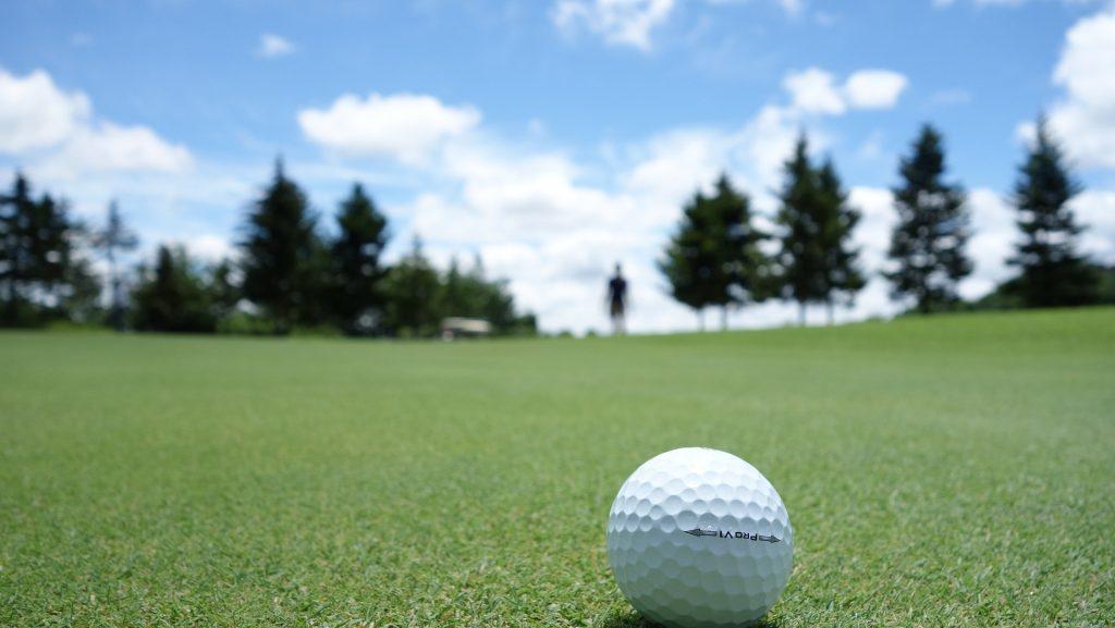 高尔夫, 字段, 草坪, 球, 绿色, 剪影, 树木, 天空, 云彩, 1706121211