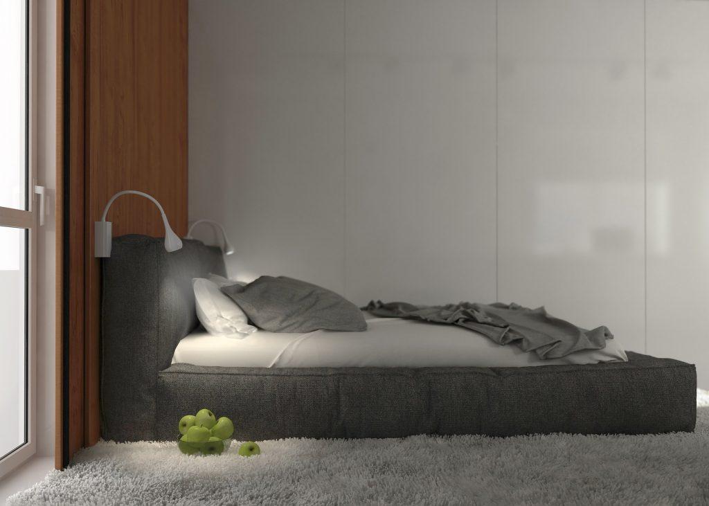 habitación, dormitorio, cama, descanso, alfombra, manzanas, 1706211123