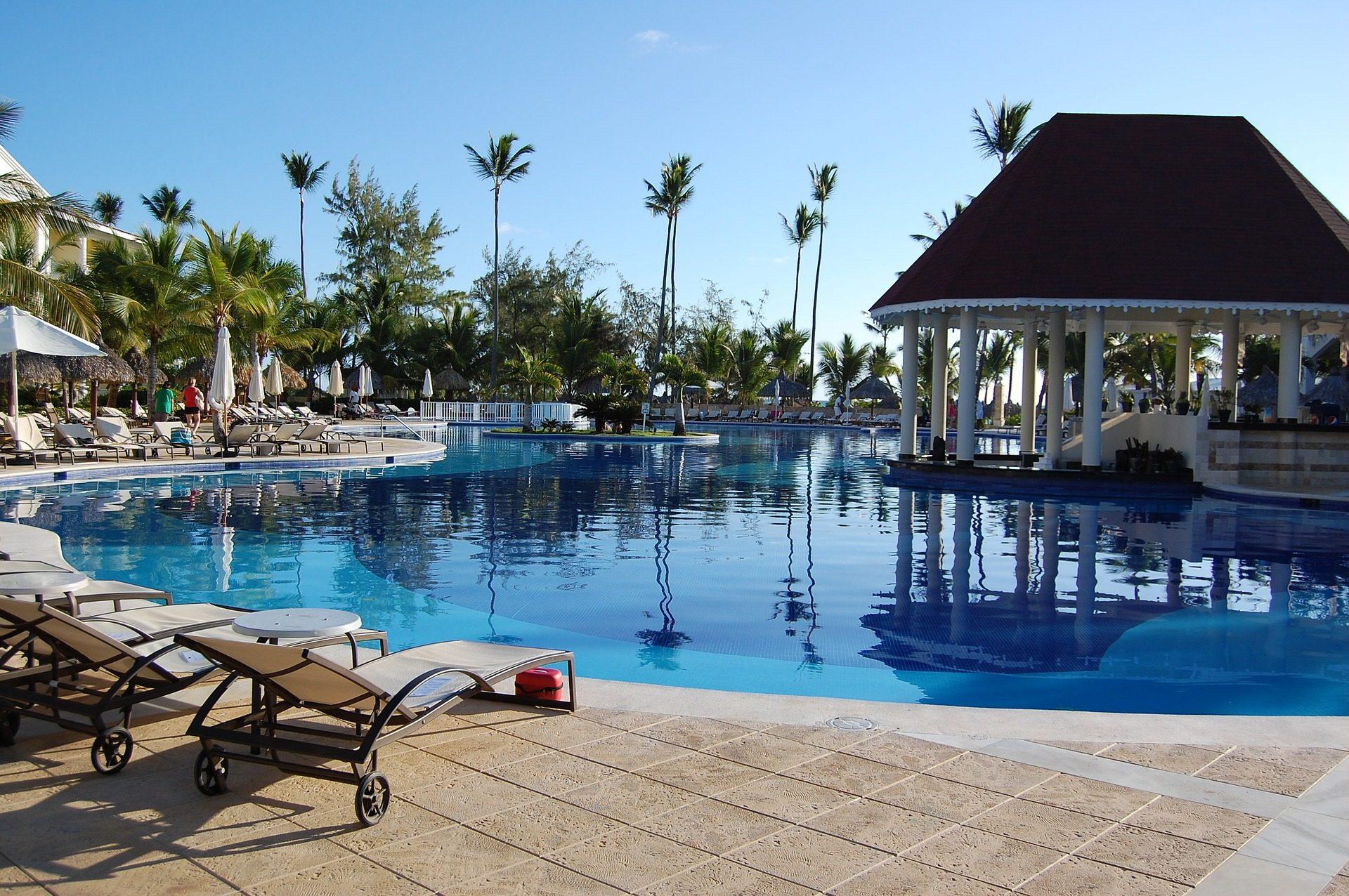 Отель, Курорт, путешествия, бассейн, Гамаки, Отдых, расслабиться, Доминиканская Республика - Обои HD - Профессор falken.com