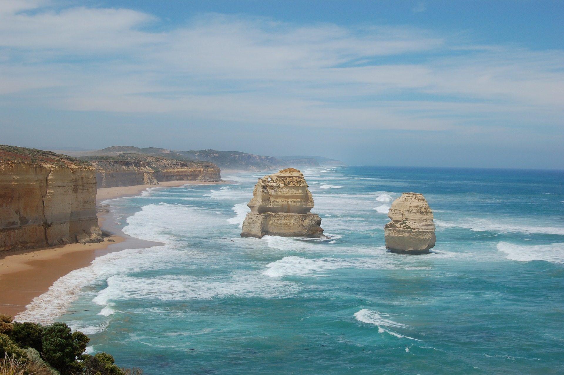 Море, Океан, скалы, Двенадцать апостолов, Австралия - Обои HD - Профессор falken.com