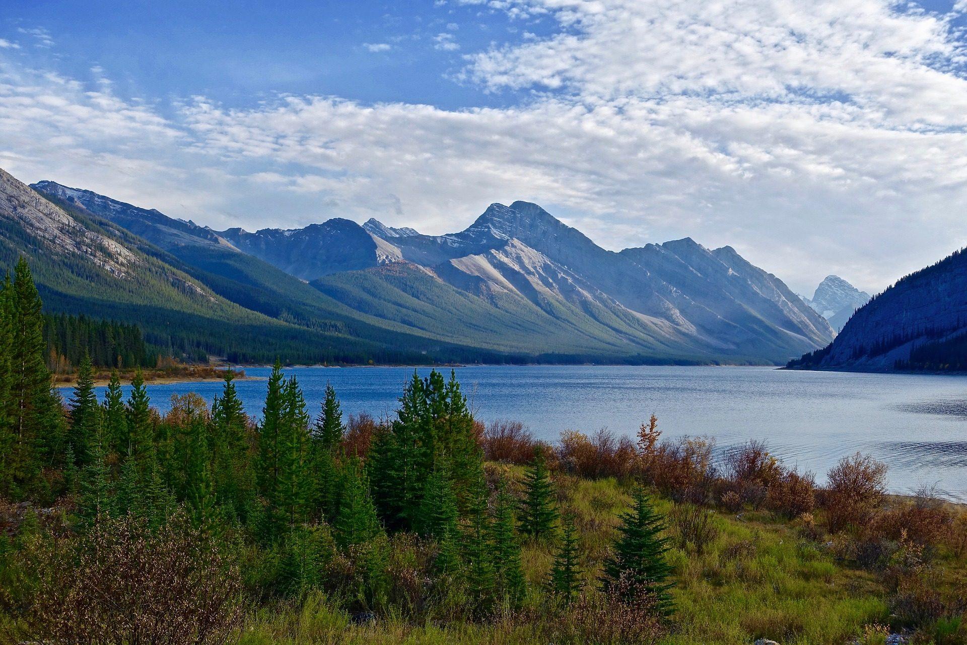 montañas, lago, pinos, árboles, calma, serenidad - Fondos de Pantalla HD - professor-falken.com