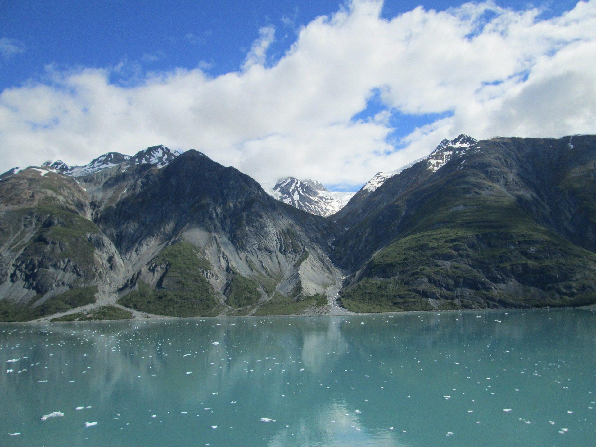 montañas, neve, Mar, Oceano, Pizza, Alasca - Papéis de parede HD - Professor-falken.com