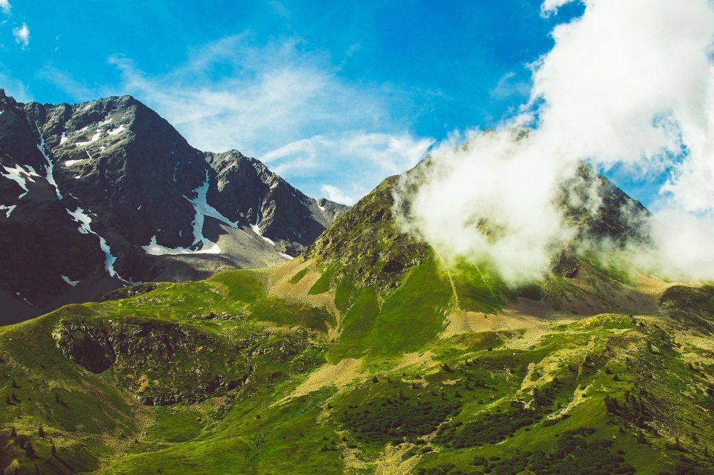 Montañas, 雪, 云彩, 高度, 天空, 1706181826