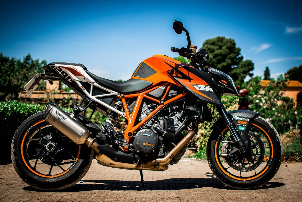 motocicleta, deportiva, ktm, superduke, aerodinámica, naranja, 1706211456