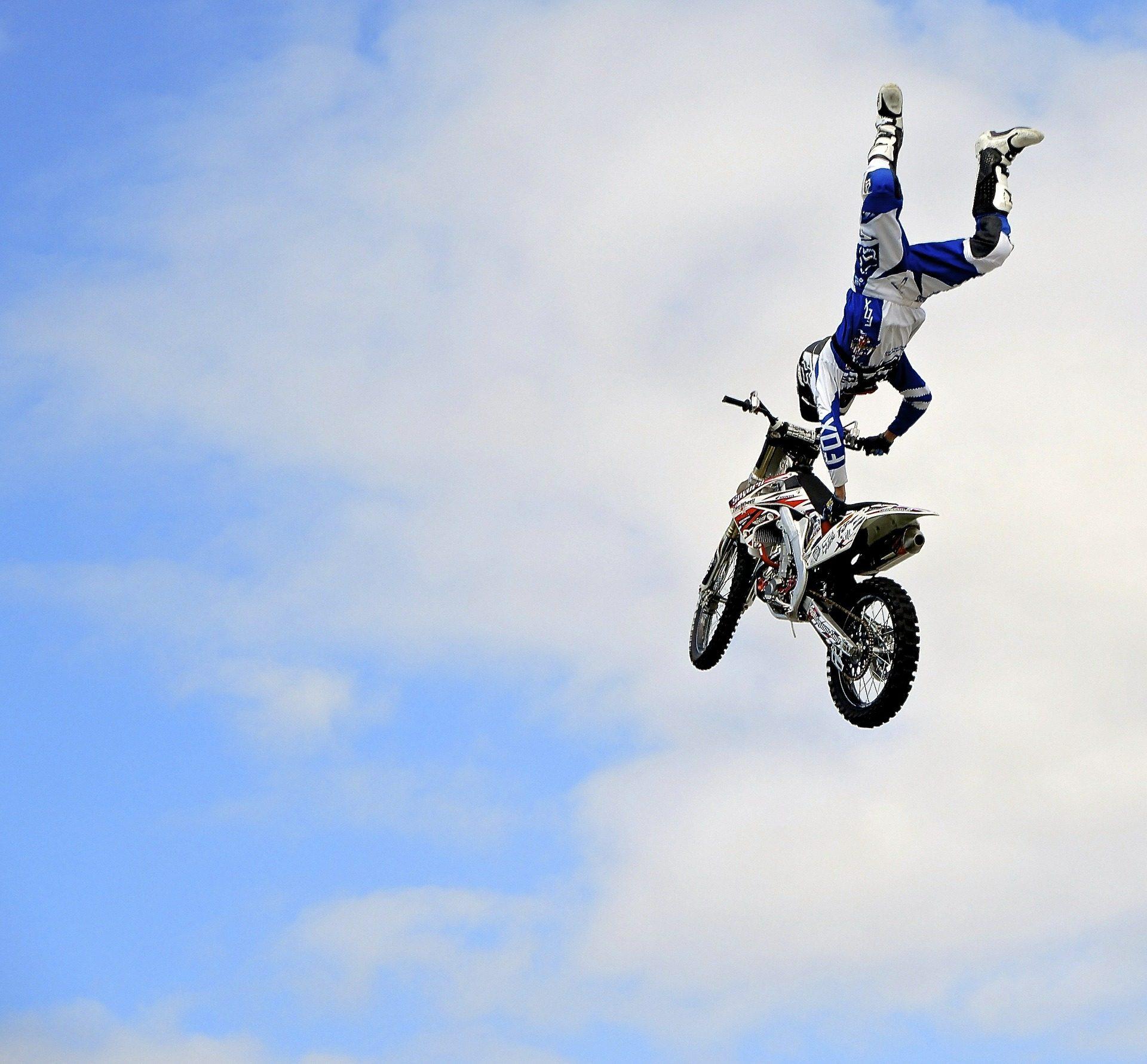 摩托车, 摩托车越野赛, 跳转, 风险, 危险, 行动 - 高清壁纸 - 教授-falken.com