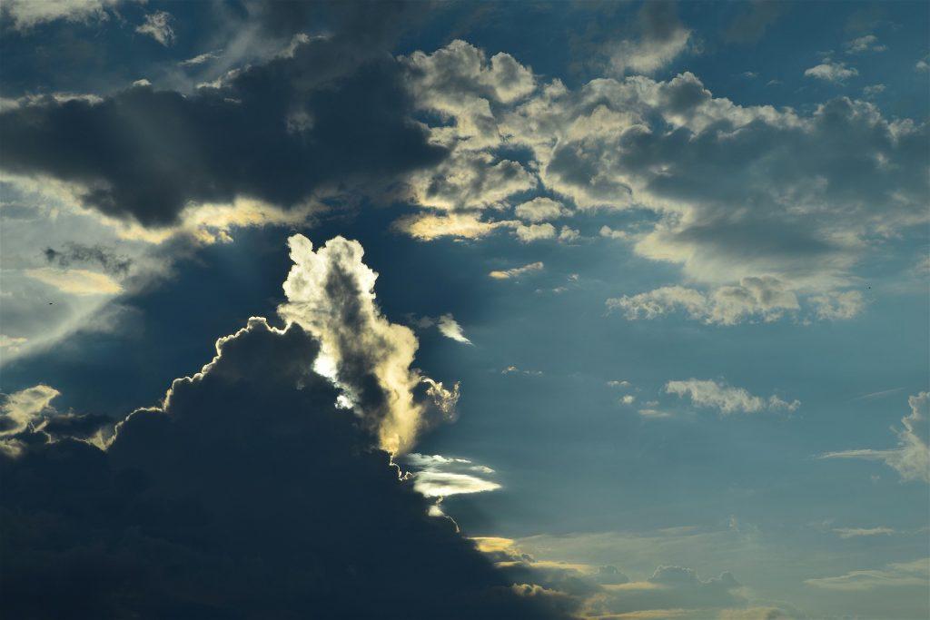 nubes, cielo, resplandor, sol, brillo, luz, nublado, 1706181547