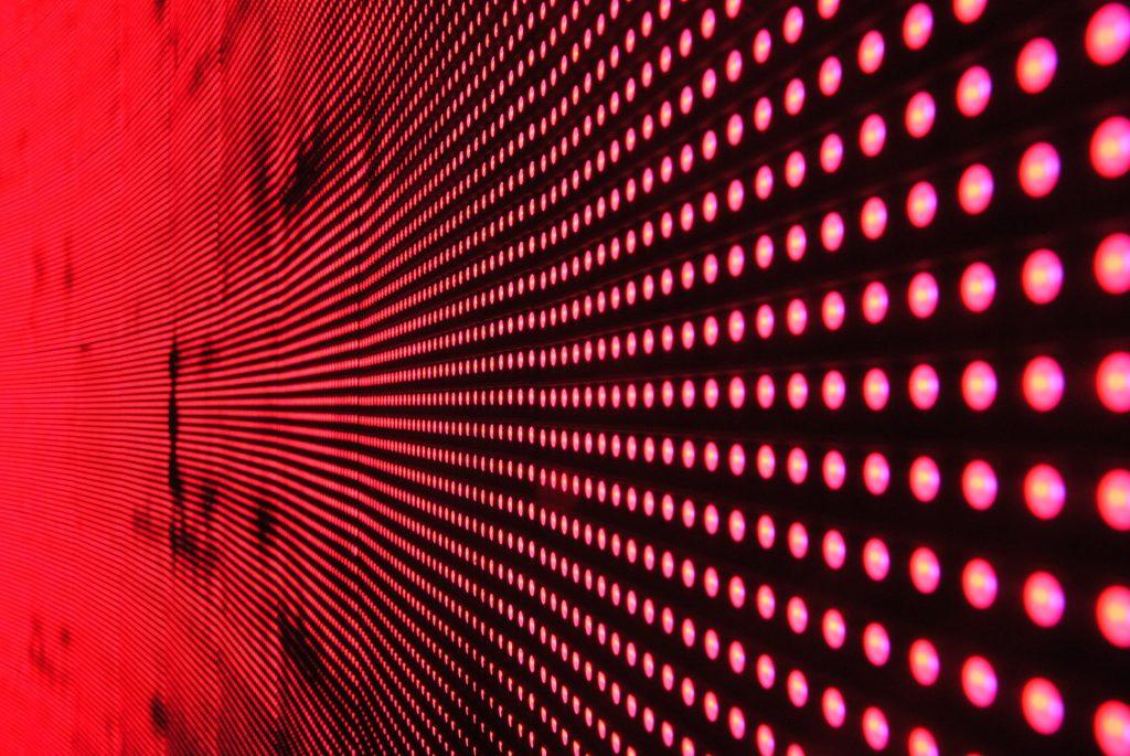 pared, estructura, pantalla, leds, luces, rojas, 1706071934