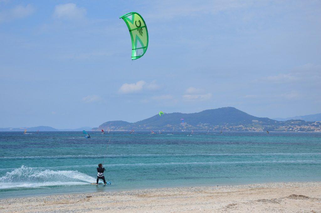 海滩, 海, kitesurf, 波, 风, 1706121603