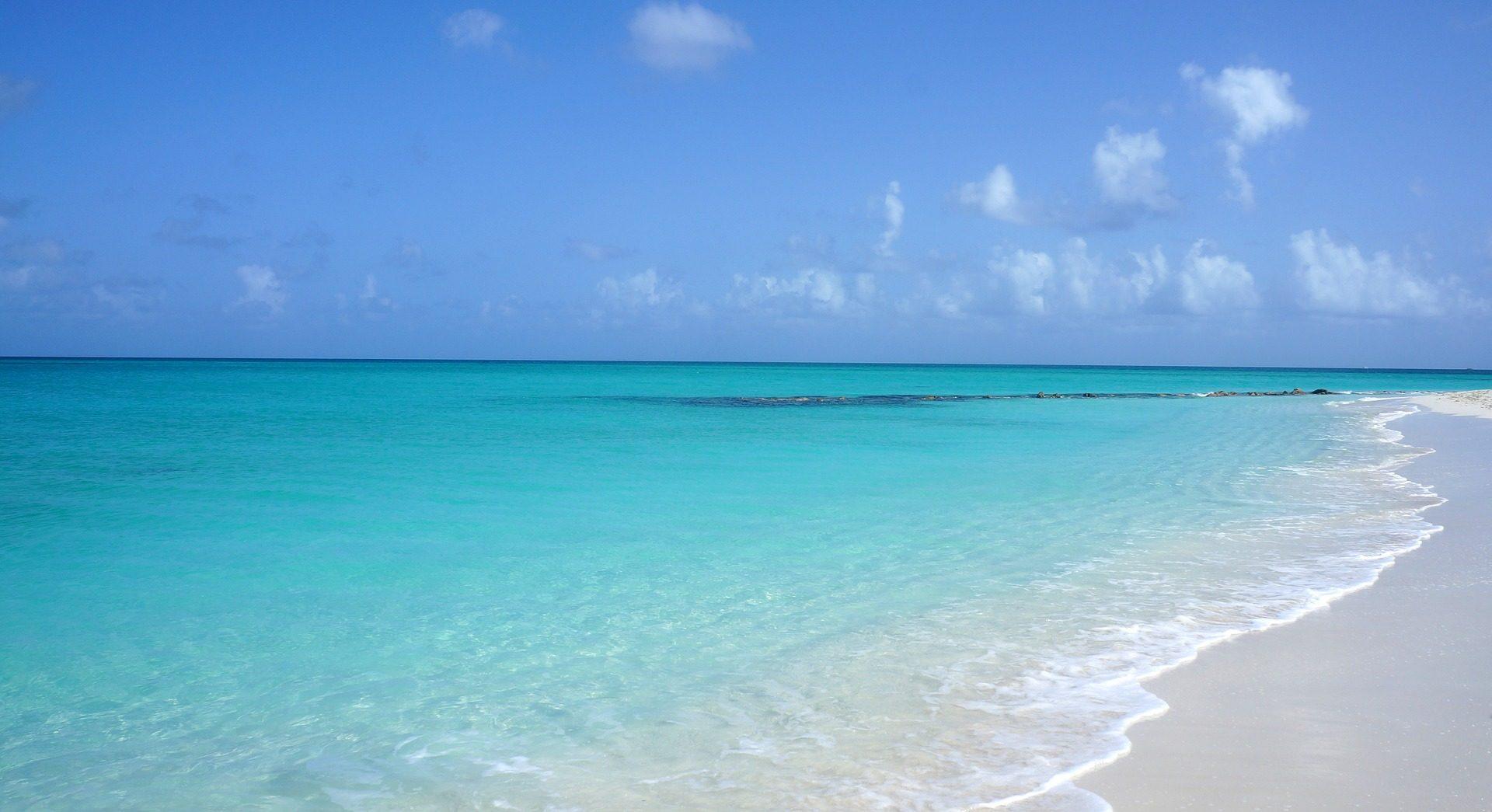 playa, turquesa, cielo, nubes, relax, solitaria - Fondos de Pantalla HD - professor-falken.com