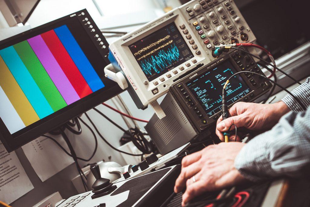 技术, 示波器, 屏幕, 电子, 设备, 手, 1706020818