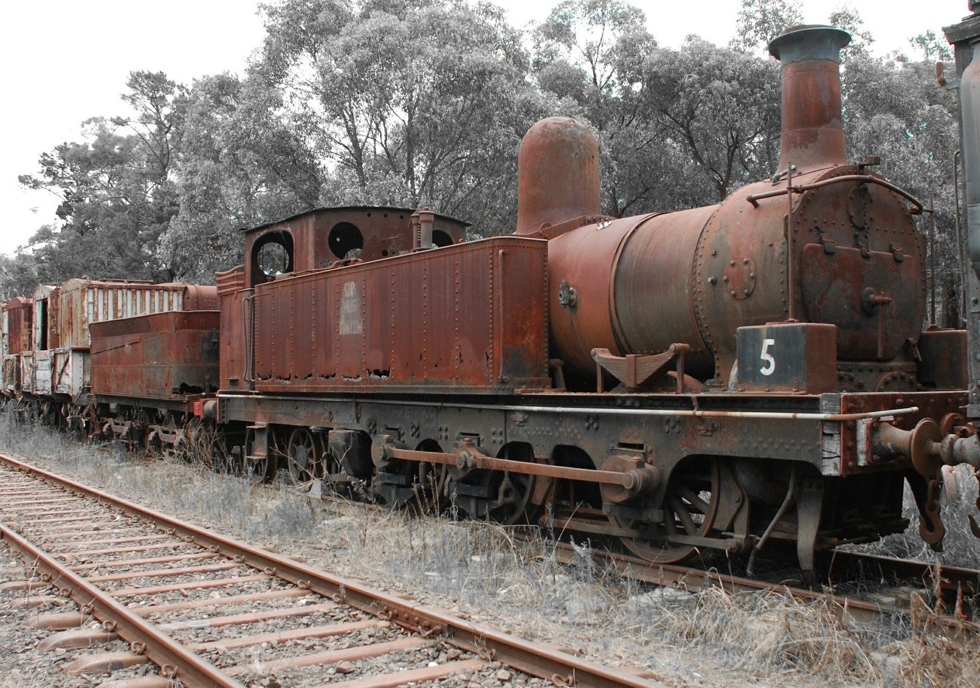 поезд, пара, машина, брошенные, viejo, Старый - Обои HD - Профессор falken.com
