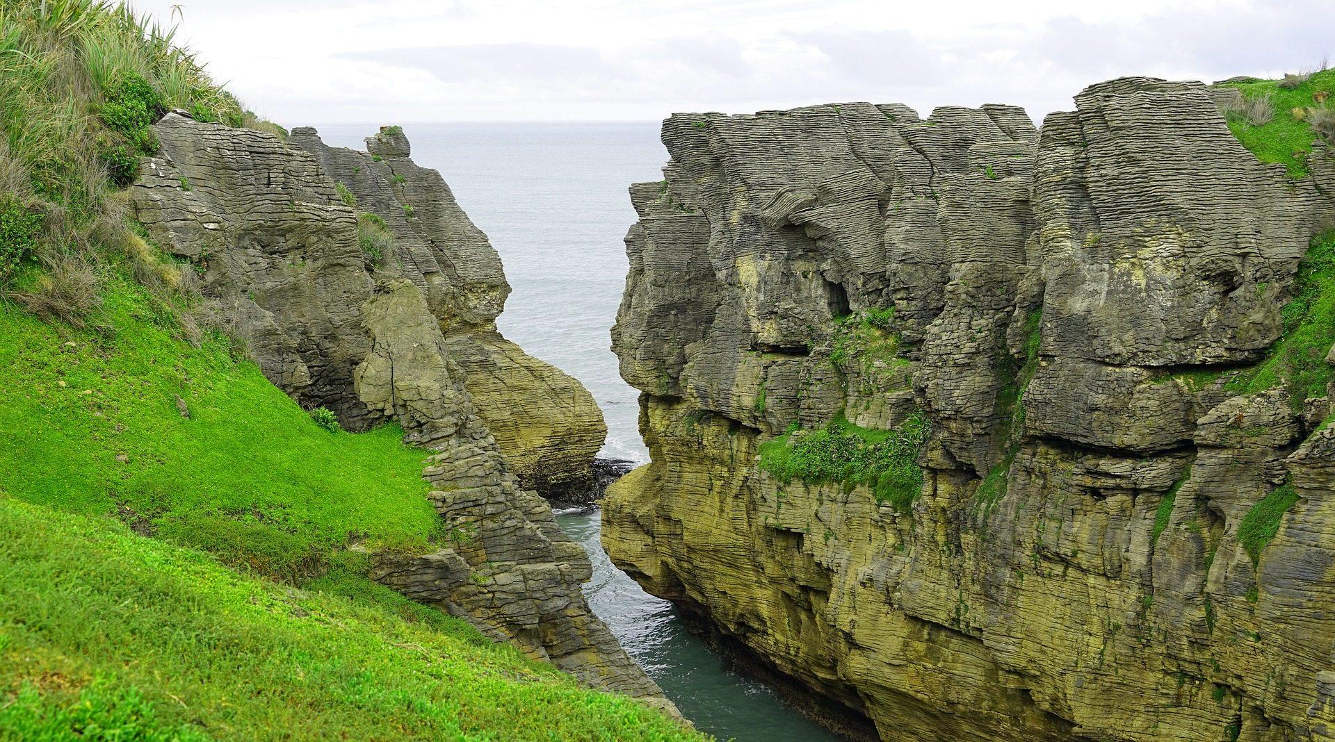 كليف, كوستا, البحر, فطيرة الصخور, نيوزيلندا - خلفيات عالية الدقة - أستاذ falken.com