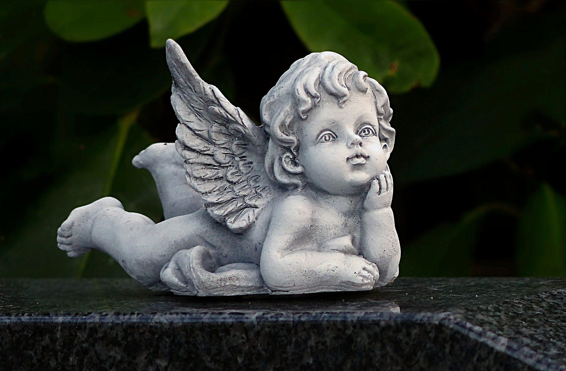 ángel, escultura, figura, jardín, alas - Fondos de Pantalla HD - professor-falken.com