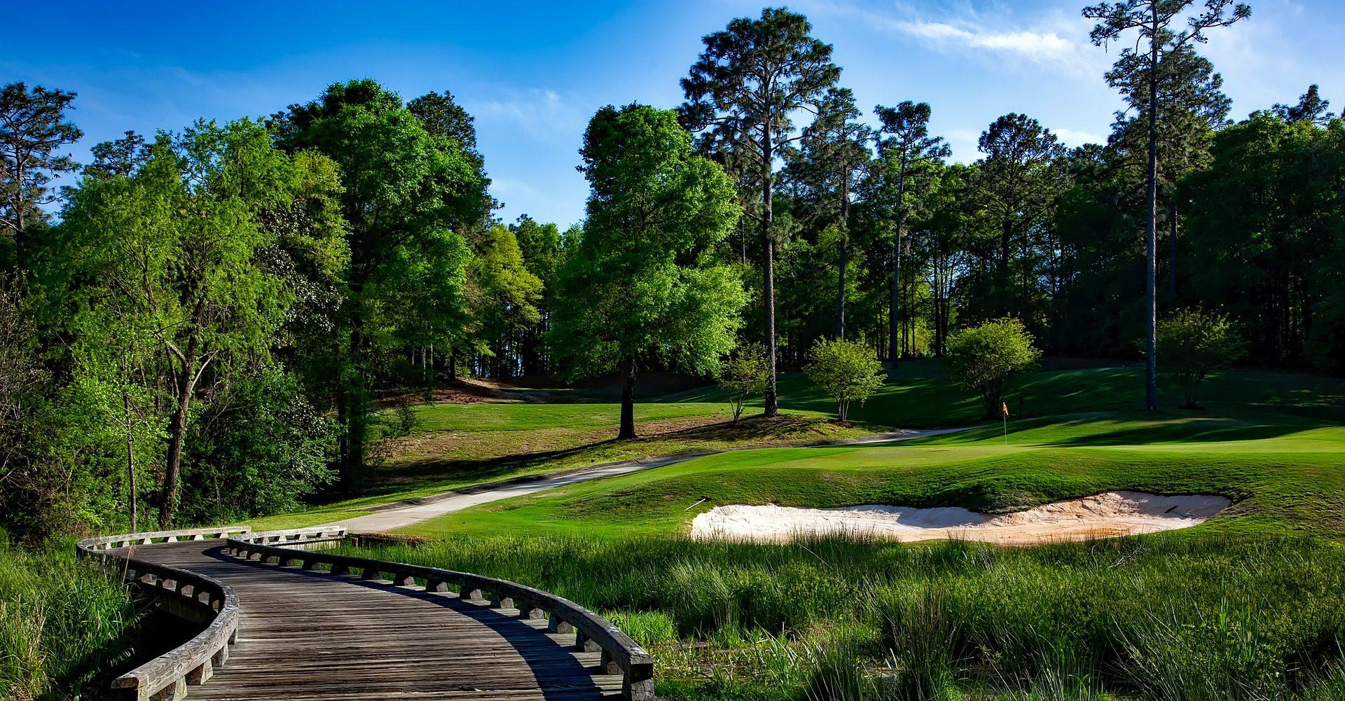 campo, Golf, árvores, Estrada, Terra, buraco - Papéis de parede HD - Professor-falken.com