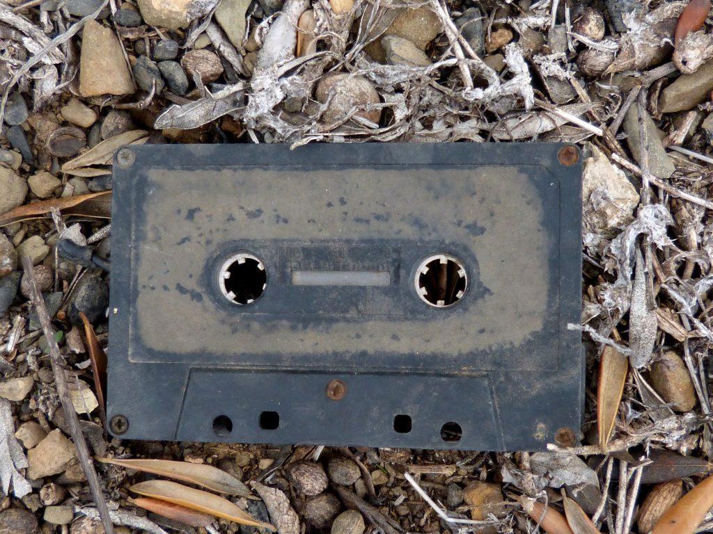 Kassette, Band, vieja, alt, Jahrgang, Papierkorb, aufgegeben, 1707190824