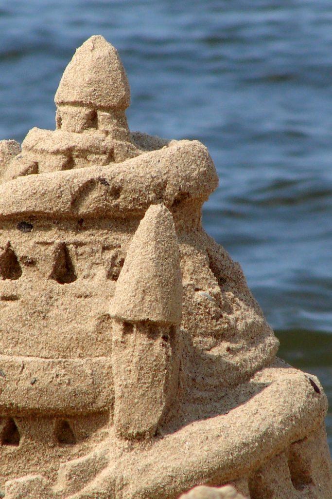 castillo, arena, playa, torre, mar, agua, 1707220838