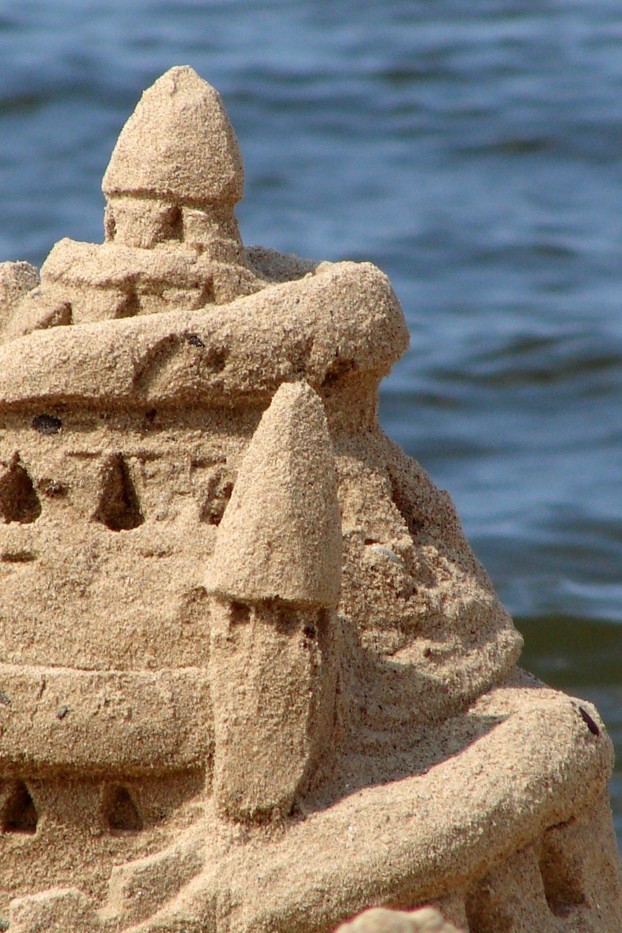 Château, sable, Plage, Tour, Mer, eau - Fonds d'écran HD - Professor-falken.com