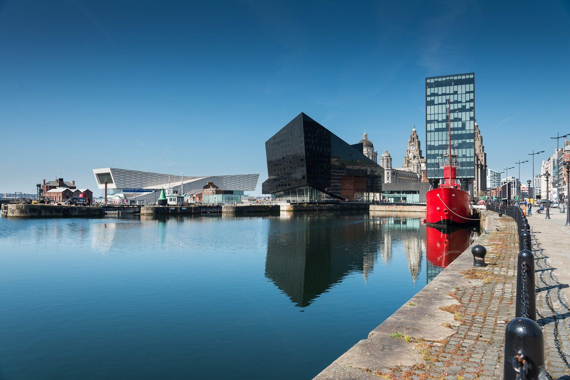 Πόλη, κτίρια, Λιμάνι, βάρκα, νερό, αρχιτεκτονική, liverpool - Wallpapers HD - Professor-falken.com
