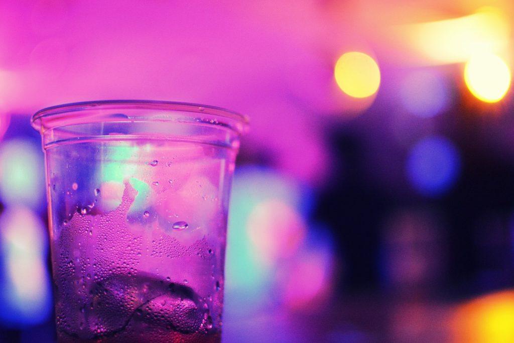 cocktail, vaso, luces, noche, diversión, fiesta, 1707222233
