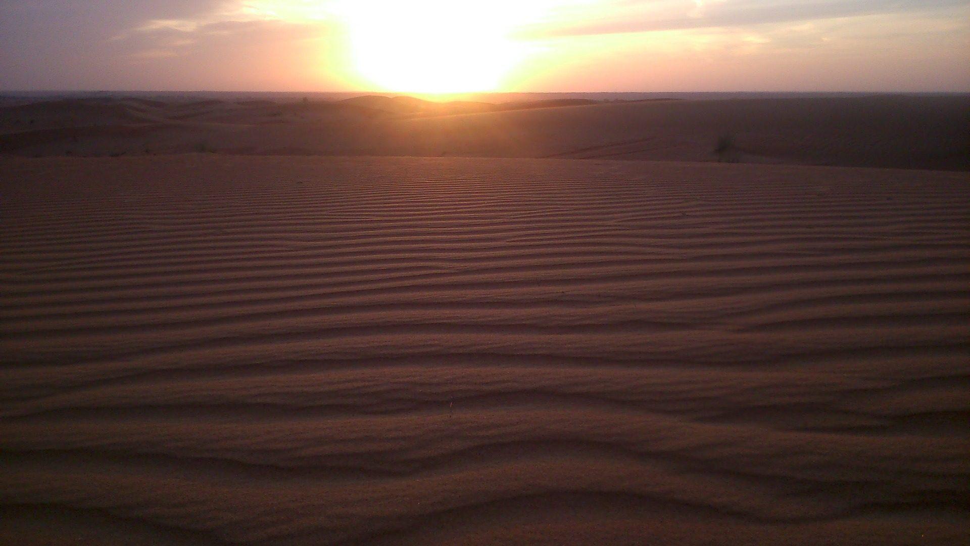 صحراء, الرمال, الأفق, الشمس, غروب الشمس - خلفيات عالية الدقة - أستاذ falken.com