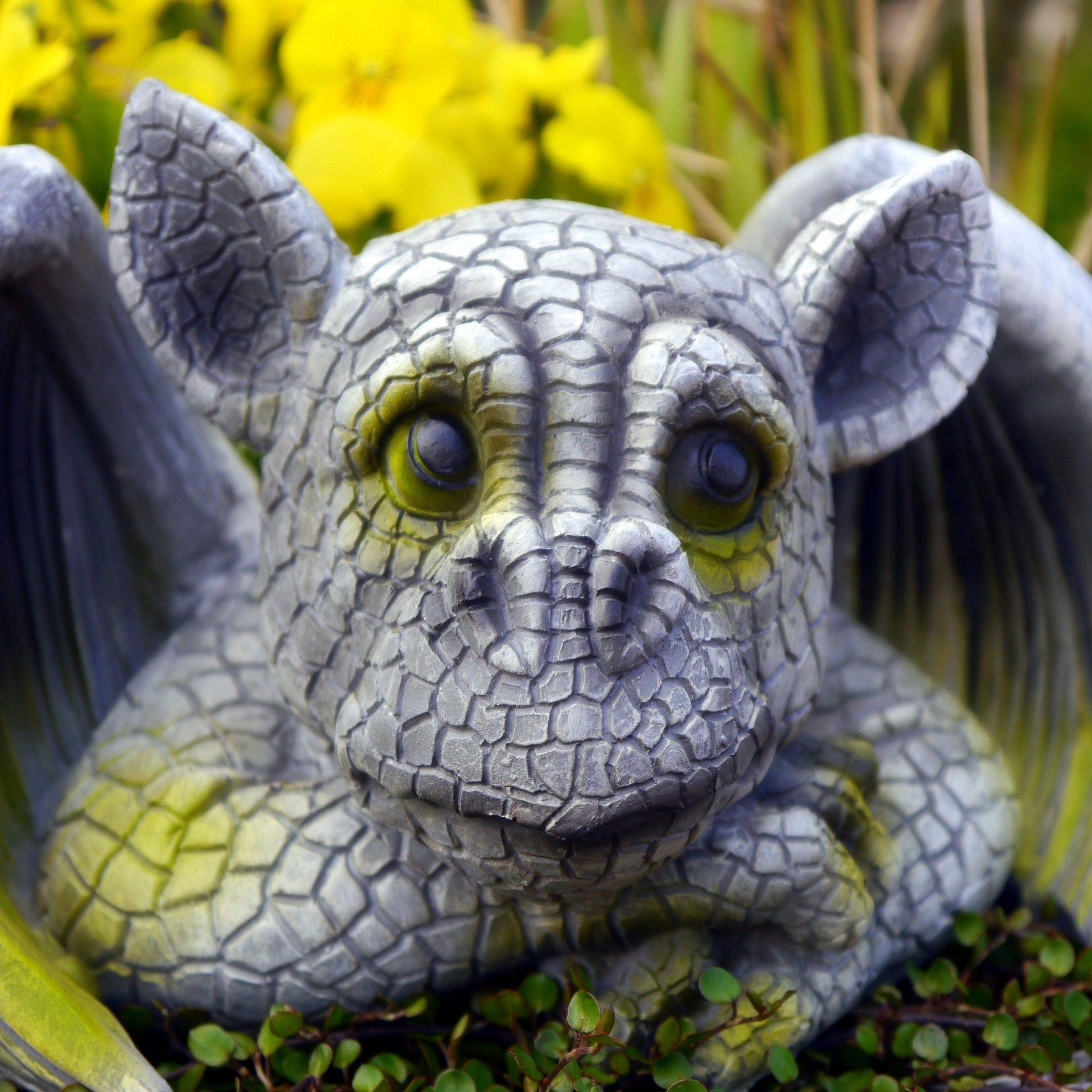 Dragão, Figura, escultura, Jardim, boneco de neve - Papéis de parede HD - Professor-falken.com
