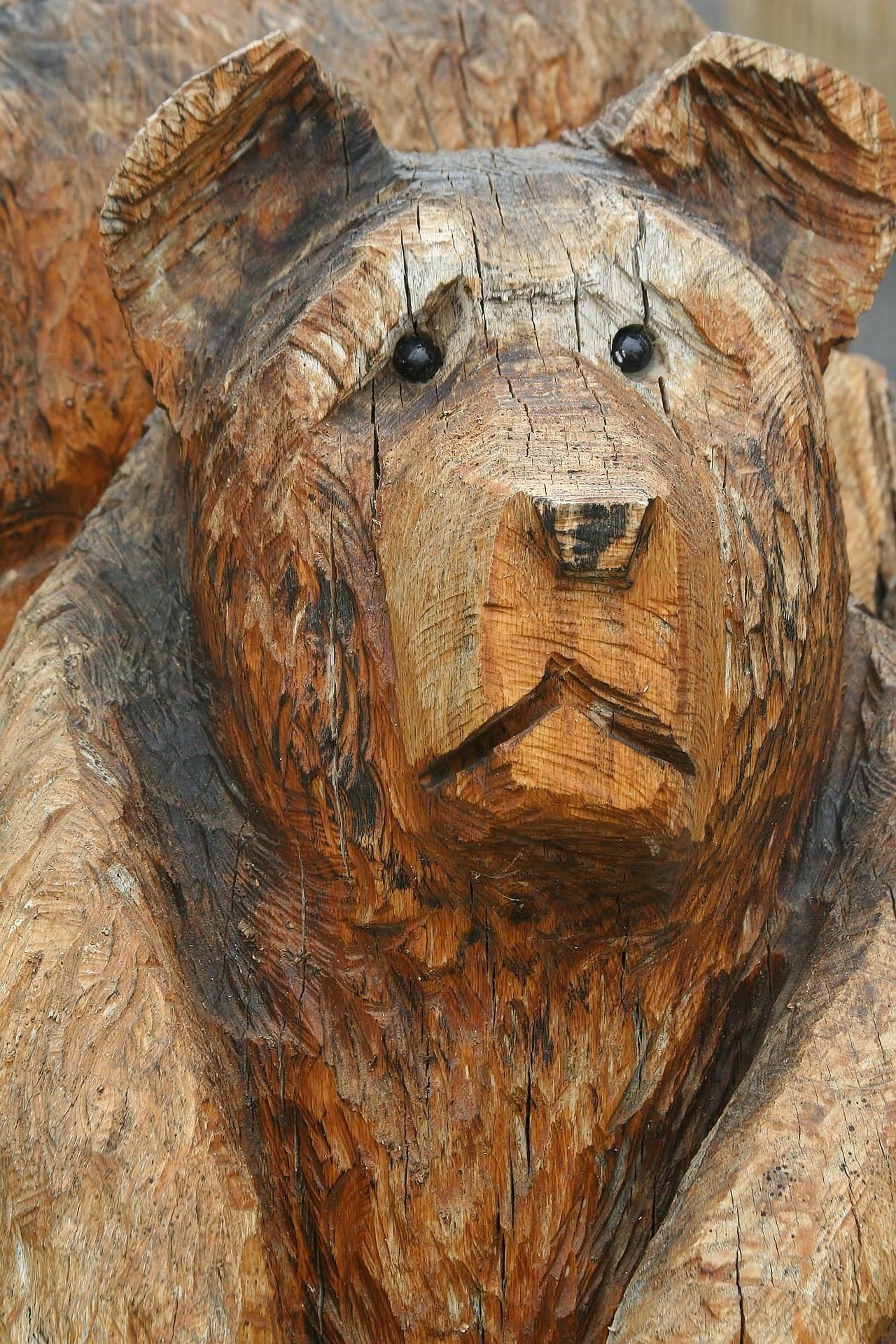 النحت, الدب, الخشب, الرقم, الحجم - خلفيات عالية الدقة - أستاذ falken.com