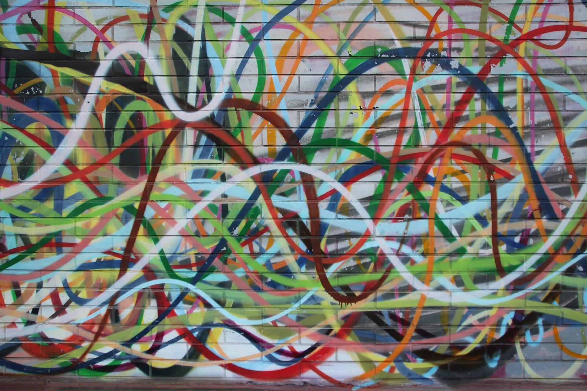 涂鸦, 线条, 条纹, 画, 壁画, 墙上 - 高清壁纸 - 教授-falken.com