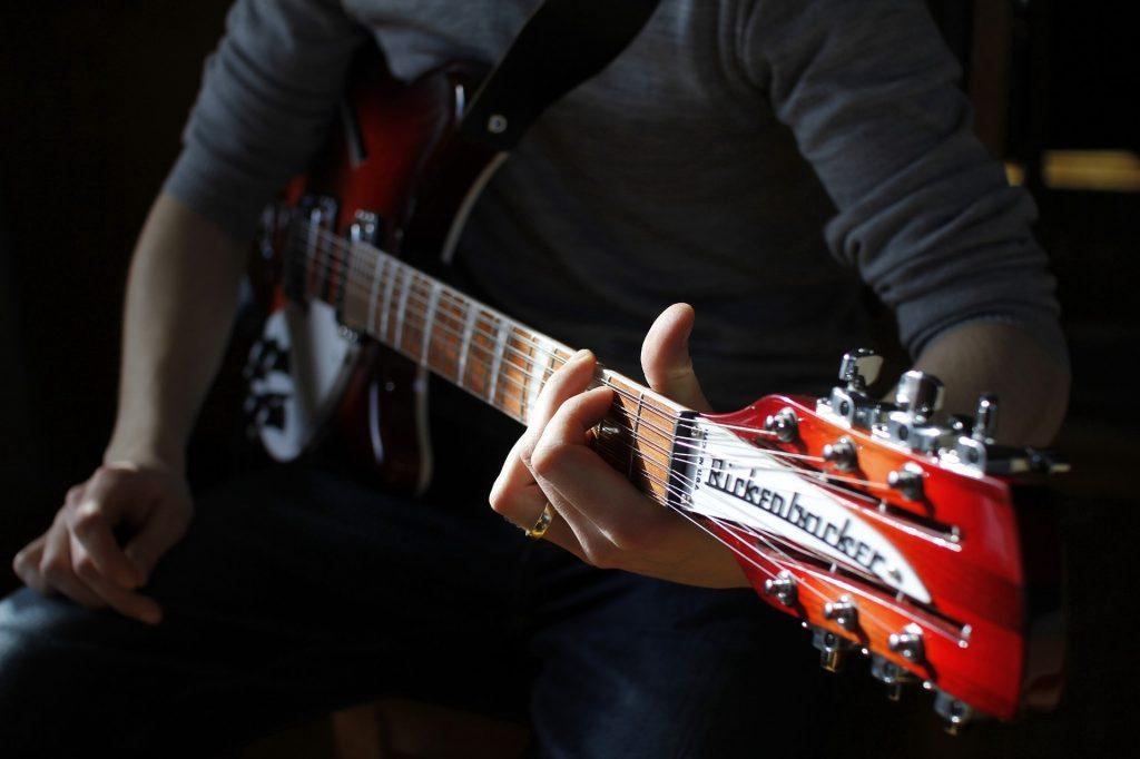 Gitarre, Elektro, Mast, Streicher, rickenbacker, 1707110857