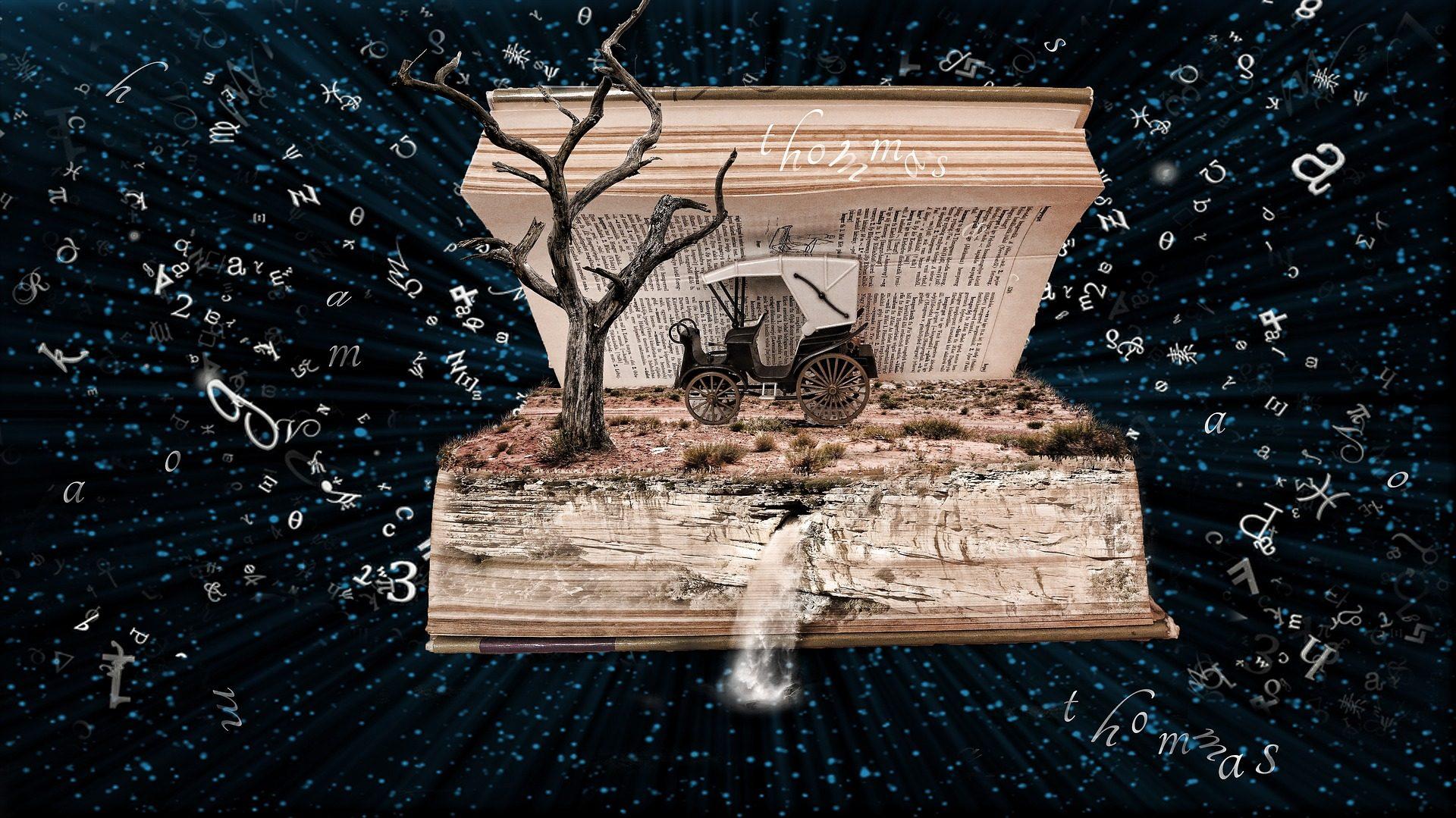 كتاب, سيارات, القديمة, خمر, شجرة, كلمات الأغاني - خلفيات عالية الدقة - أستاذ falken.com