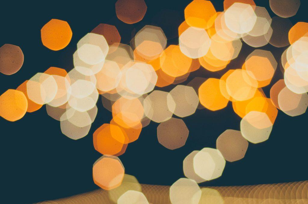 luces, halos, noche, bokeh, desenfoque, ciudad, 1707091226