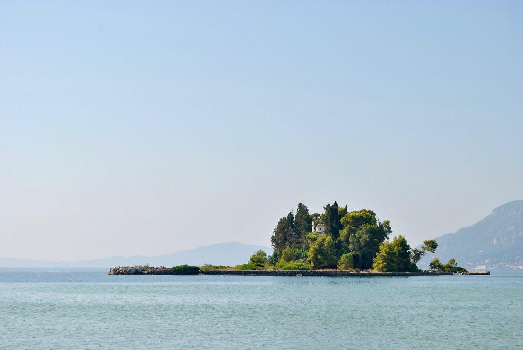 mar, océano, isla, casa, corfu, grecia, 1707272013