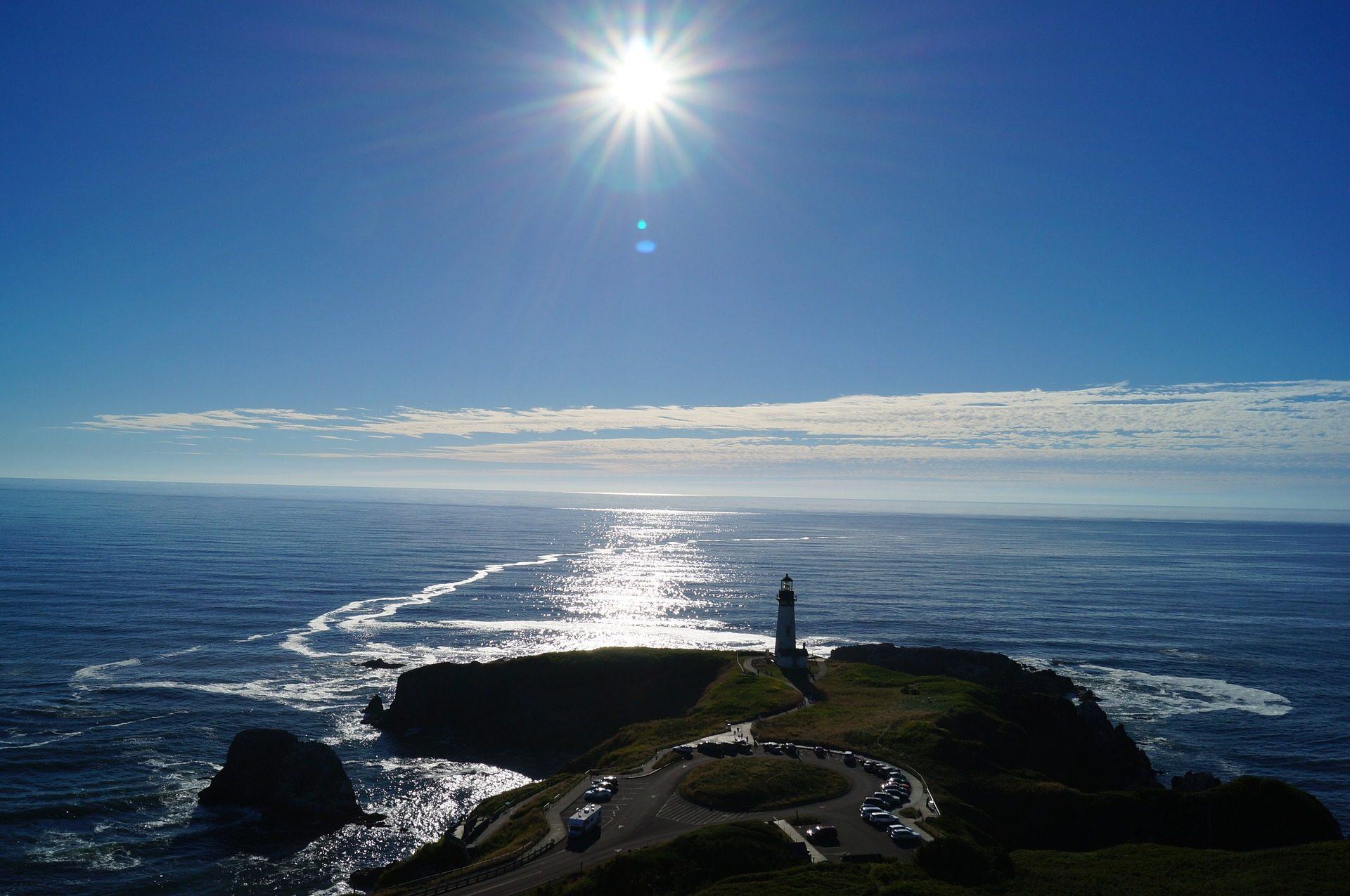 mar, océano, sol, costa, faro, guía - Fondos de Pantalla HD - professor-falken.com