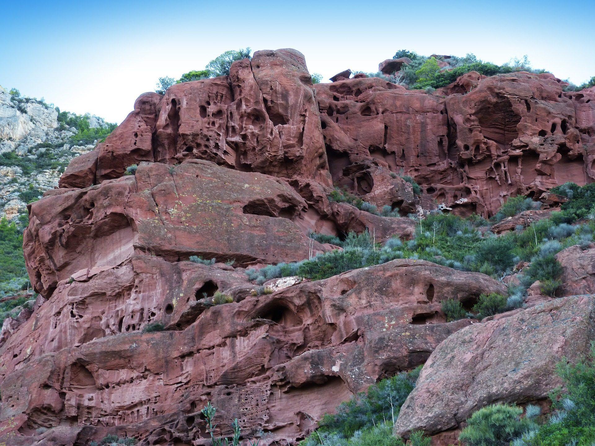 पहाड़, पत्थर, Rocas, कटाव, cavities, गुफाओं - HD वॉलपेपर - प्रोफेसर-falken.com