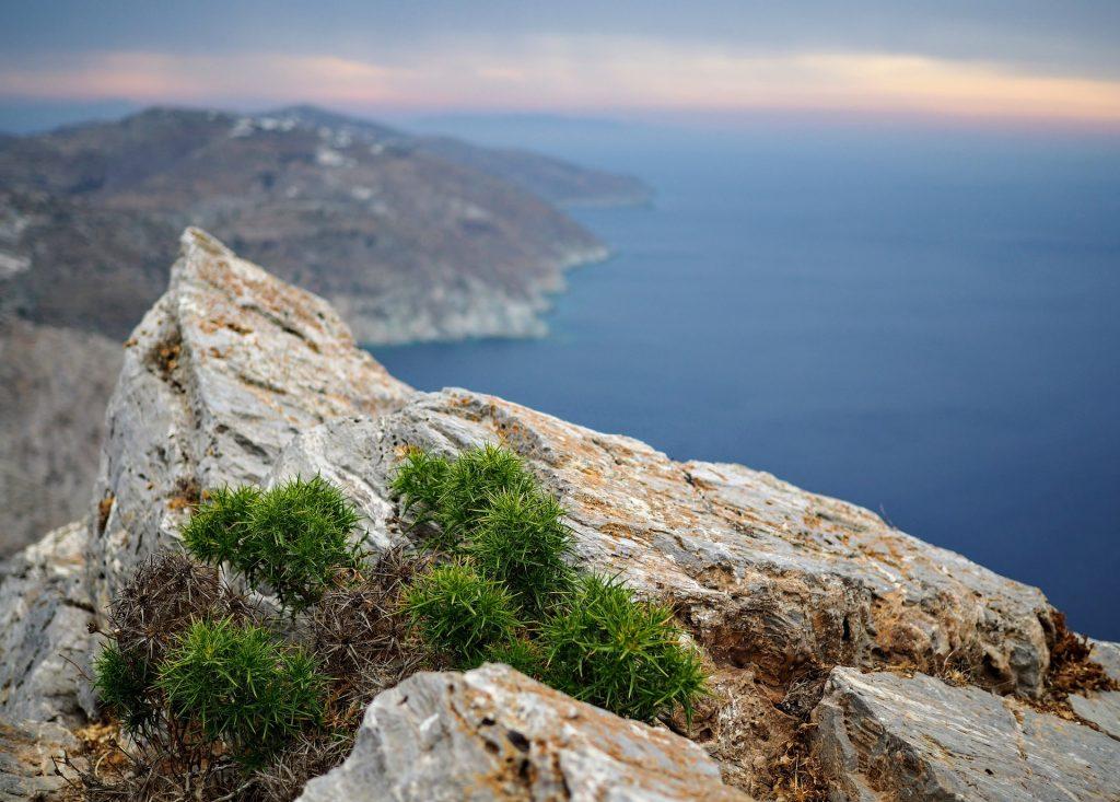 montañas, altura, mar, océano, horizonte, calma, 1707262106