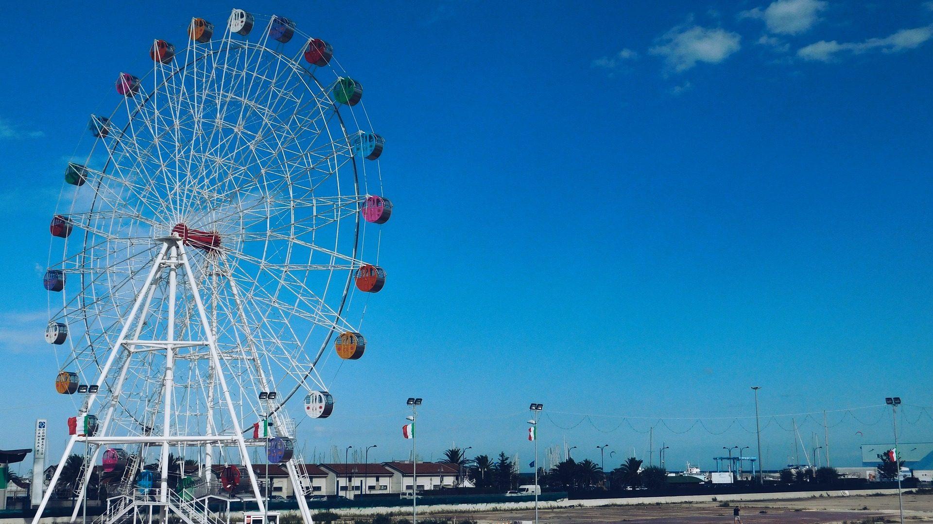عجلة فيريس, عادل, جاذبية, السماء, إيطاليا - خلفيات عالية الدقة - أستاذ falken.com
