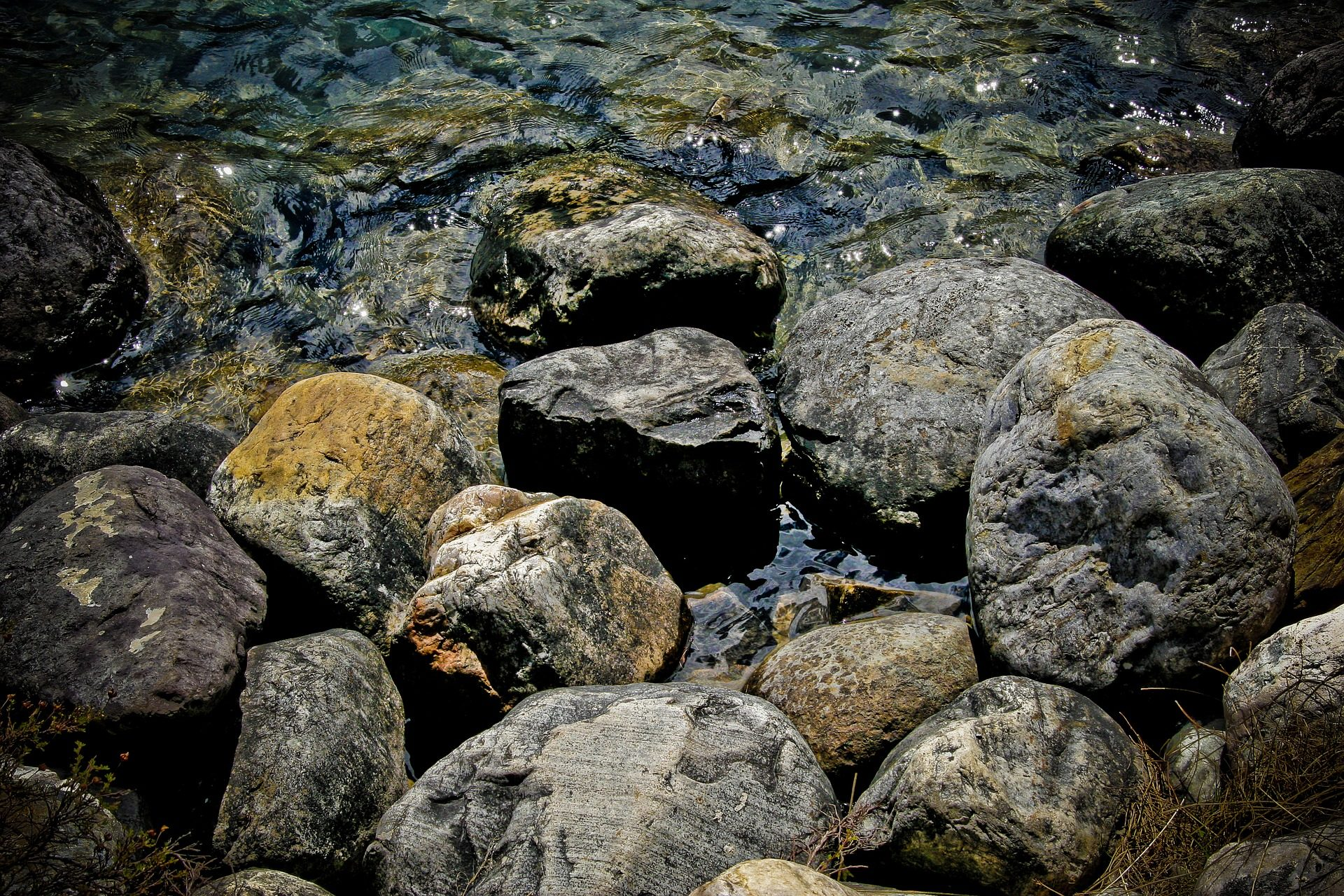 камни, Rocas, Рио, текущий, воды, Весна - Обои HD - Профессор falken.com