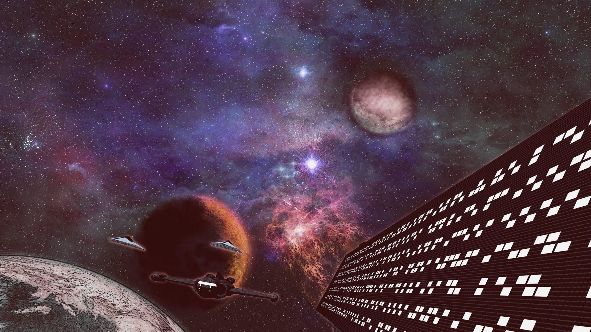 Papel De Parede Dos Planetas Estrela Naves Alien Alien Genas  -> Imagens Do Universo Para Papel De Parede
