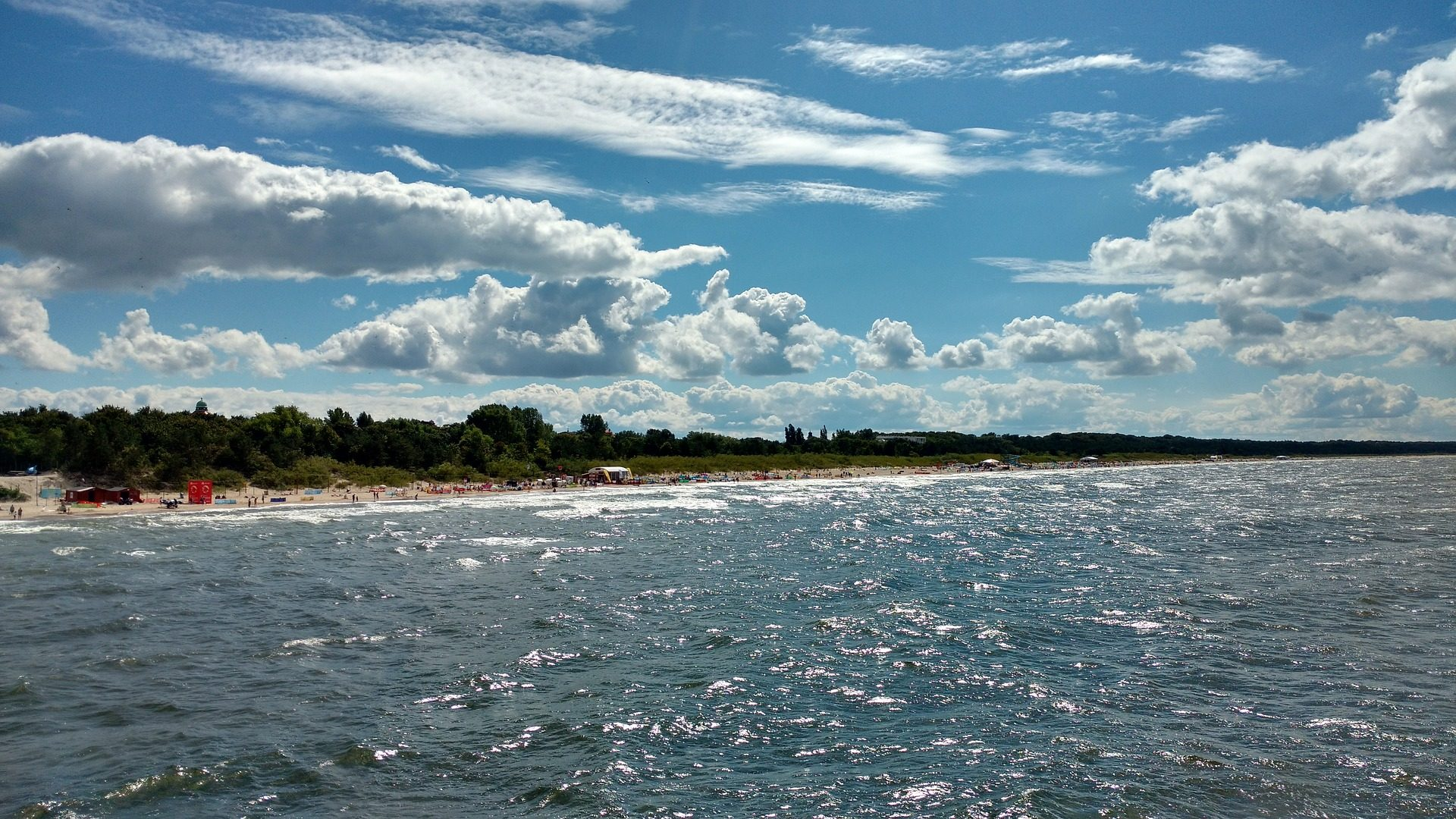 Spiaggia, Mare, onde, Cielo, nuvole, Báltico - Sfondi HD - Professor-falken.com