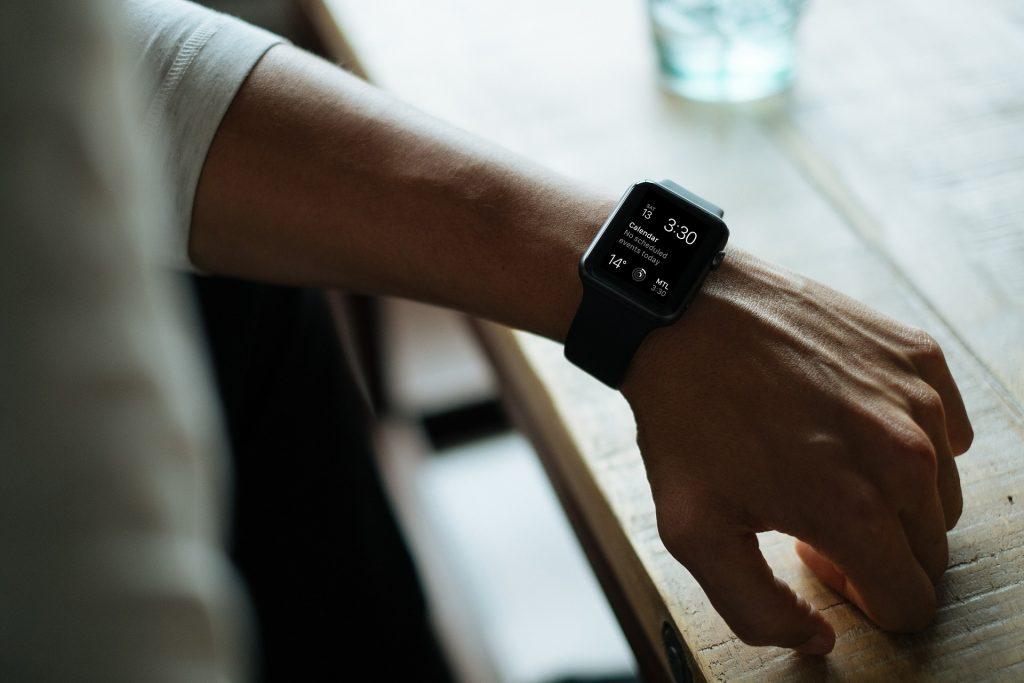 reloj, inteligente, smartwatch, muñeca, mano, 1707201054