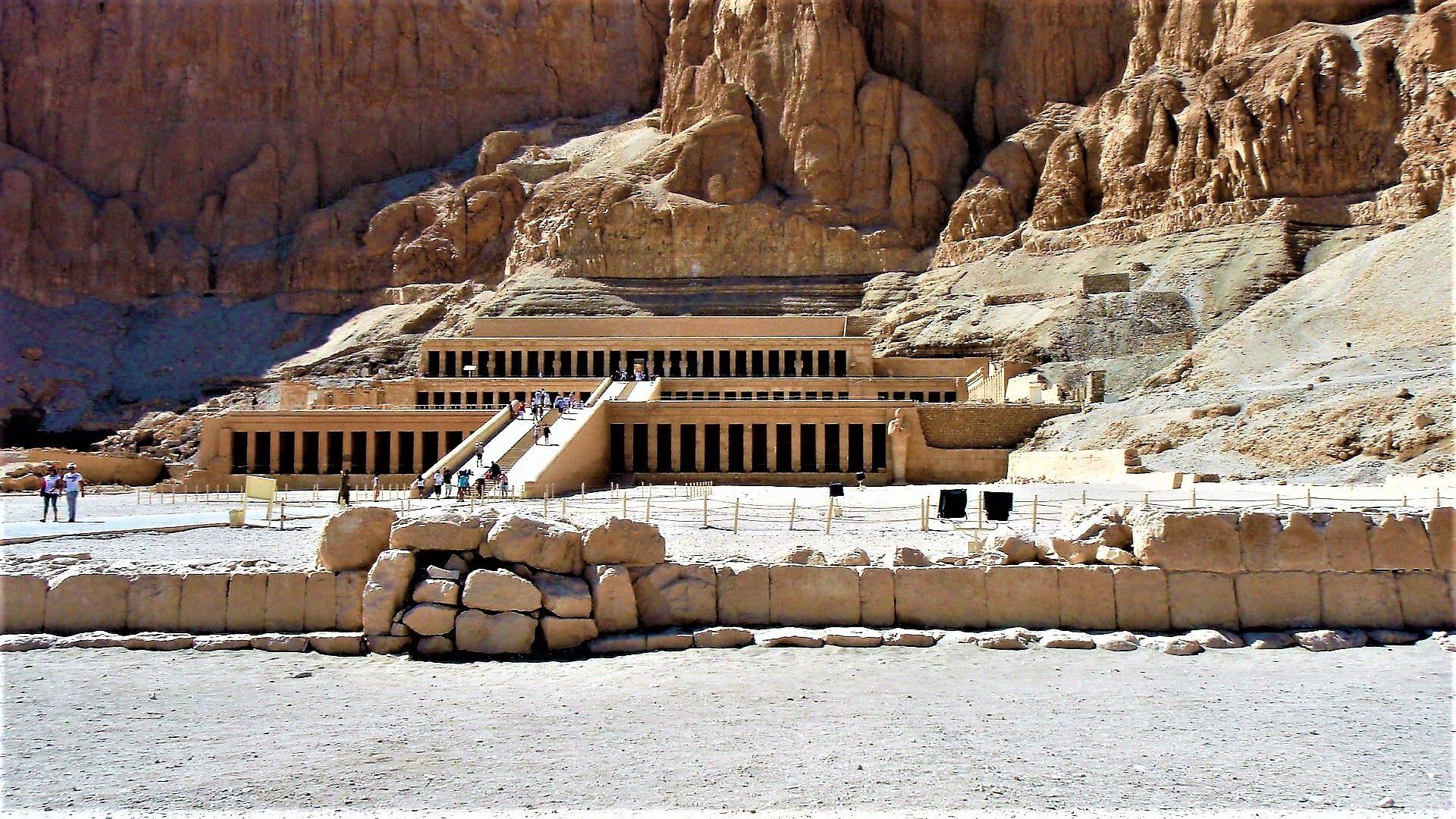 Templo de, Arqueologia, ruínas, antepassados, Hatshepsut, Luxor - Papéis de parede HD - Professor-falken.com